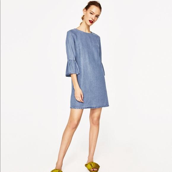 0ffa2f08 Zara Ruffle sleeve Dress XS EUC. M_5ae5eef4daa8f69b8e44099a